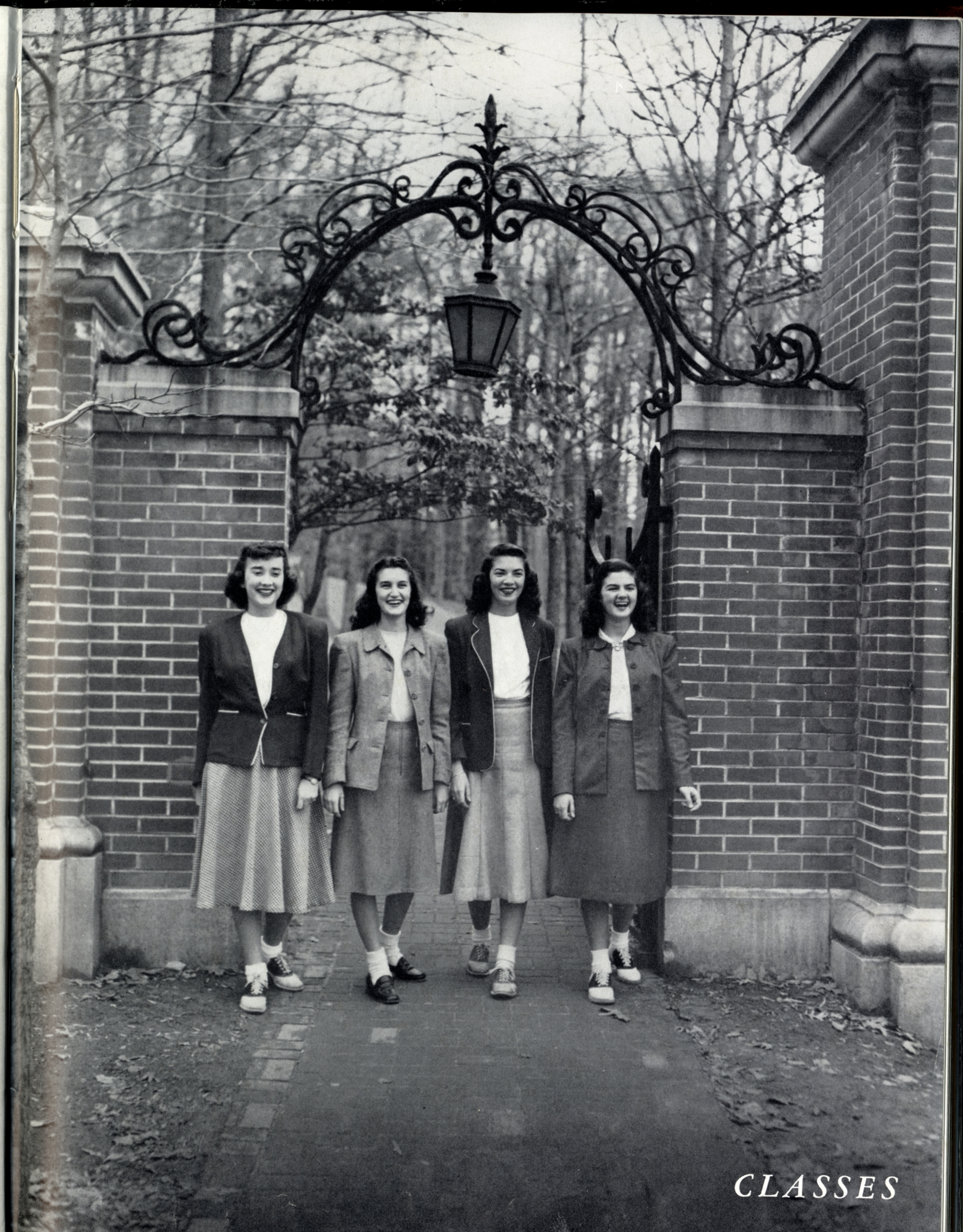 Class Officers In Front Of Gate, 1948