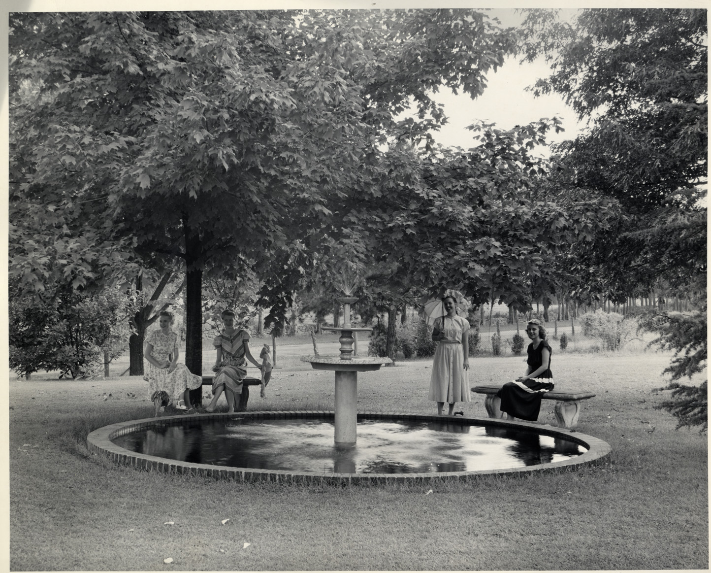 Fountain at Trench Hill, 1948