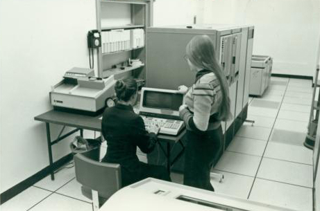 Students Using a Computer, 1980