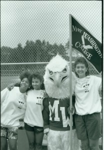 UMW Students with the eagle mascot, 1988 citation