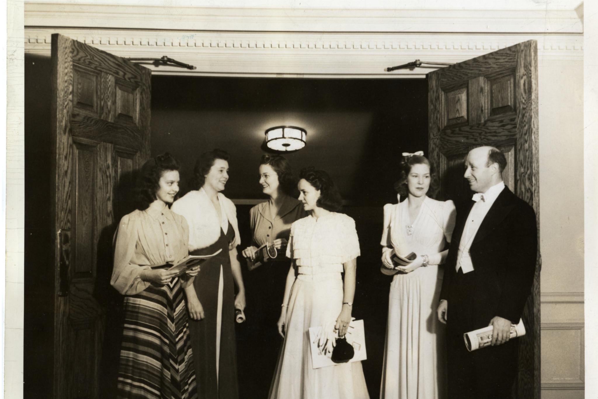 Formal Function at Dodd Auditorium, 1940