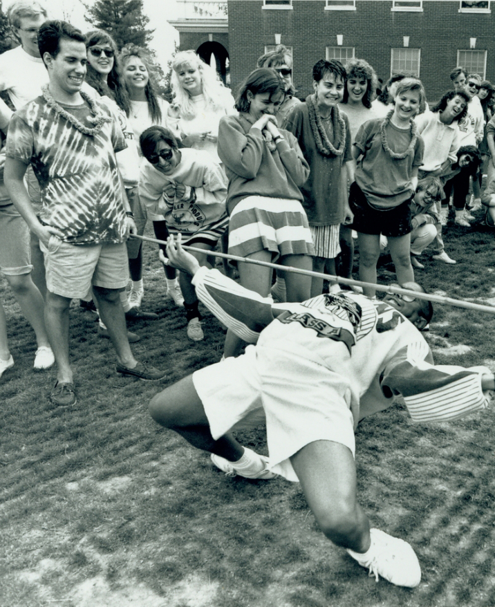 Limbo Contest on Devil Goat Day, 1989